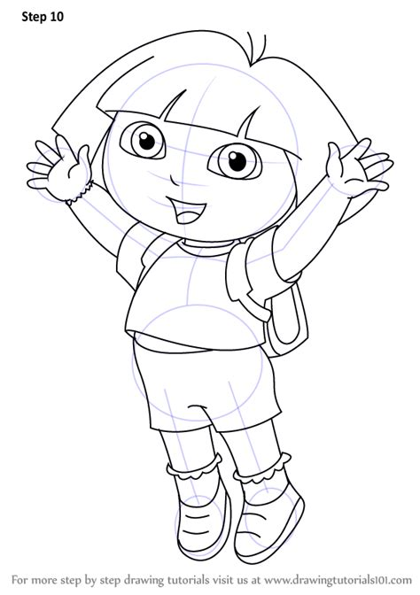 Learn How To Draw Dora Marquez From Dora The Explorer
