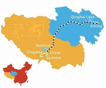 Tibet Train Qinghai Tour Map Lhasa Windhorsetour