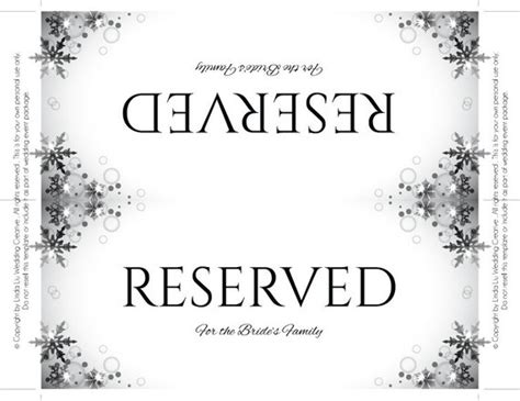 reserved sign template reserved sign template printable wedding reception sign reserved for family sign instant