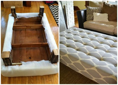 How To Make An Ottoman Out Of A Table how to turn a coffee table into an ottoman