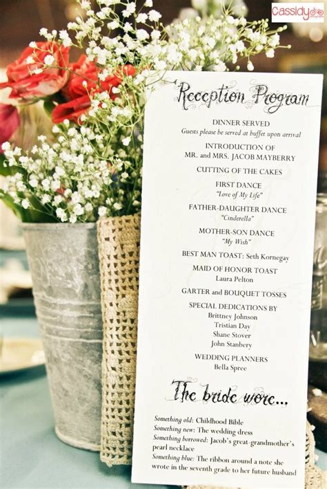 reception program  decorations    dream