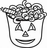 Candy Coloring Halloween Pages Printable Bucket Corn Drawing Spooky Bag Sheets Popcorn Toddlers Easy Cool Adults Getcoloringpages Clipartmag Box Trick sketch template