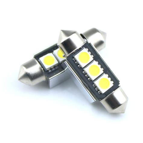 free shipping 2x no error white 6000k led license number