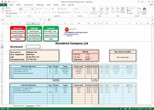 employee performance scorecard template With employee performance scorecard template excel
