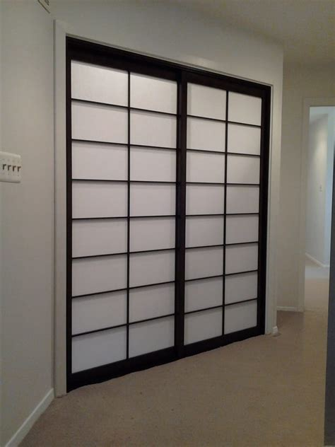sliding shoji screen closet doors shown closed yelp