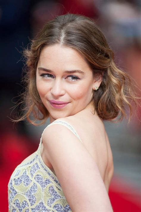 Her father was a theatre sound engineer and her mother is a businesswoman. EMILIA CLARKE at 'Me Before You' Premiere in London 05/25/2016 - HawtCelebs