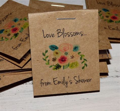 personalized mini floral bridal shower flower seed
