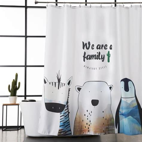 white polyester shower curtains for