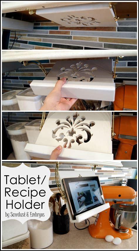 kitchen cookbook storage diy tablet recipe book holder cabinets reality 3411