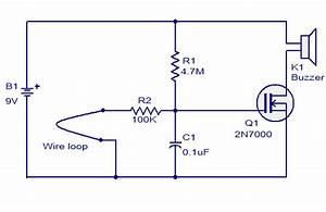 Wire Loop Alarm Based On 2n700