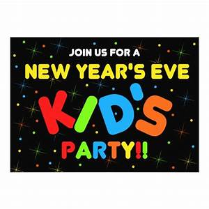 New Years Eve Kids Party Invitations | Zazzle.com