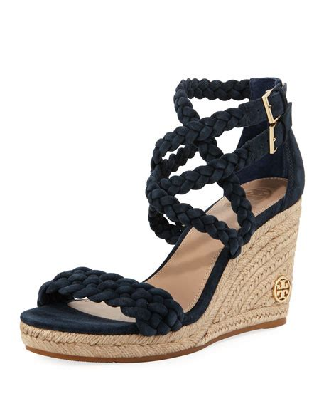 tory burch bailey braided wedge sandal neiman marcus
