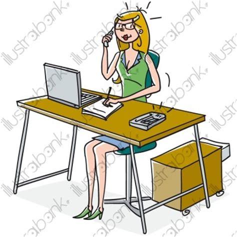 secretaire au bureau secrétaire illustration administratif libre de droit