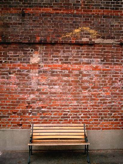 Brick Wall Walls Commons Bench Against