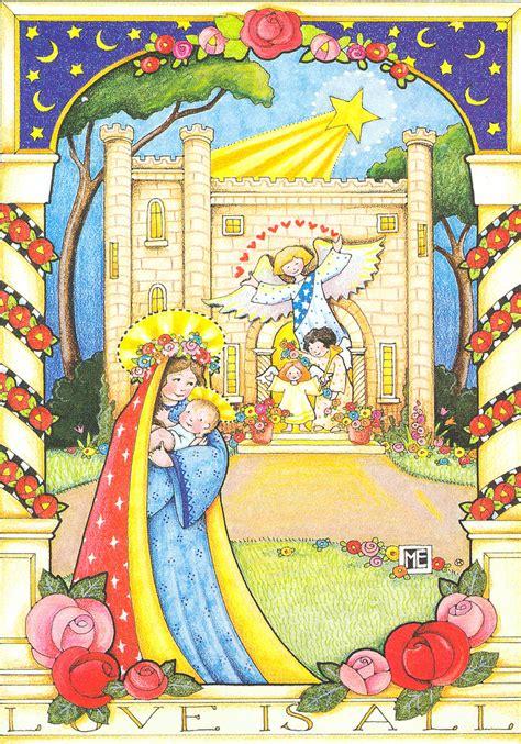 mary engelbreit madonna  child christmas card mary