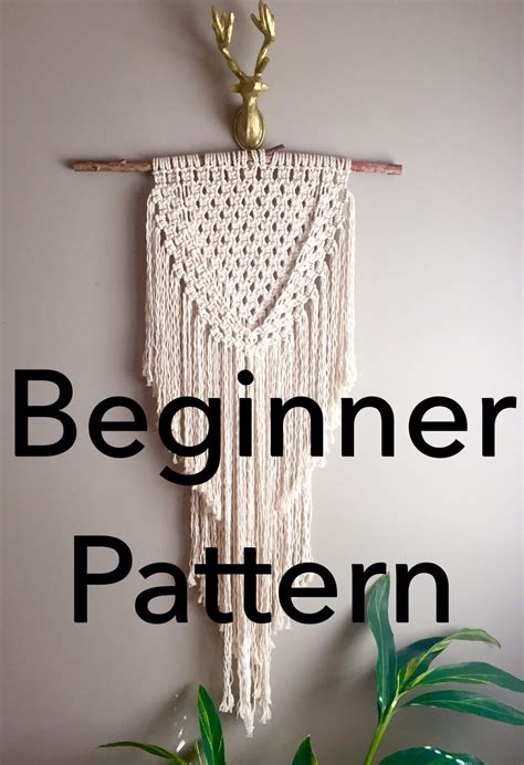 joan  arc macrame pattern beginnerpdf diy wall hanging