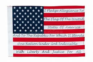 American Flag With The Pledge Of Allegiance Stock Photo ...