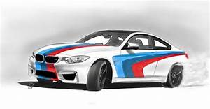 BMW M4 With M-Performance stripes by GarzaInterest on Etsy