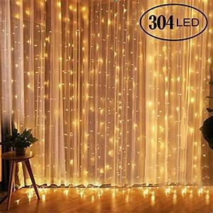 Lichterkette Vorhang Innen : qomolo lichterkette 300 leds lichterkette vorhang 3x3m lichterkette innen warmwei 8 ~ Orissabook.com Haus und Dekorationen