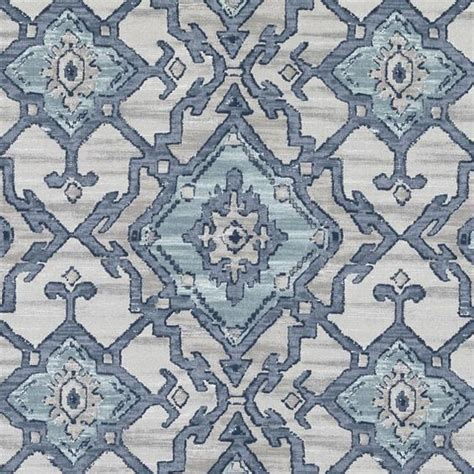 navy blue and aqua ikat upholstery fabric grey blue