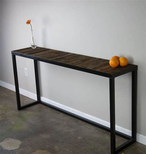 wood metal console table wood and metal console table great tables