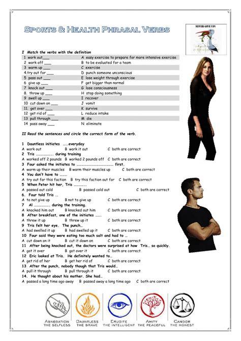 sports phrasal verbs interactive worksheet