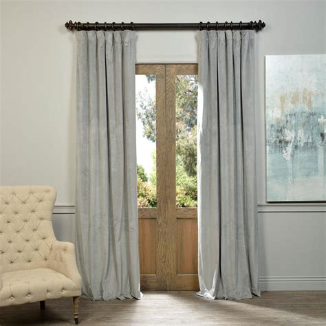 Grey Drapery Panels by Exclusive Fabrics Furnishings Blackout Signature Silver