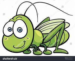 Vector Illustration Of Cartoon Grasshopper - 258990104 ...