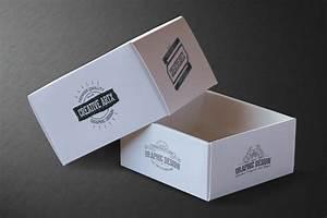 Amazing Gold Card N Card Box Mockup EyMockup