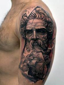 Poseidon Arm Tattoo For Men | Tattoo Ideas | Pinterest ...