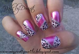 Animal print nails pink art ideas