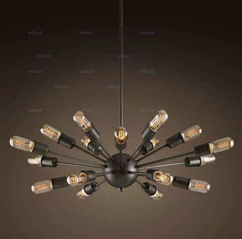 mid century chandelier 18 heads atomic starburst light sputnik l chandelier