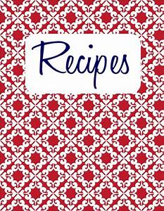 6 best images of printable cookbook covers to print With recipe book cover template free