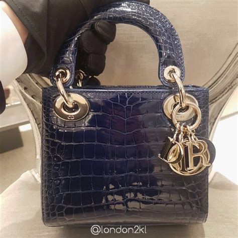 l2kl mini in croc in blue luxury fashion and fashion