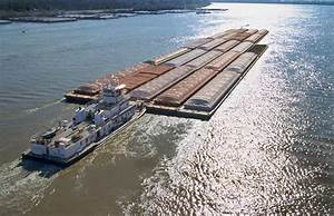 Towboats And Barges On The Mississippi Photograph by Garry