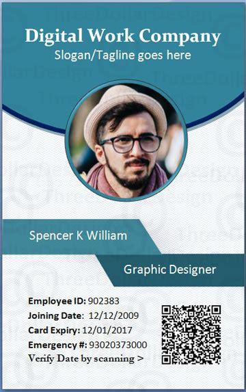 employee card format  word  employee card template
