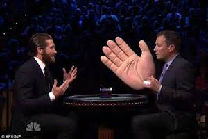 Jake Gyllenhaal Lets Jimmy Fallon Hit Him Whilst Promoting