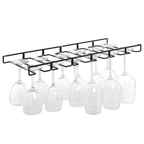 under cabinet stemware rack stemware wine glasses hanger organizer holder rack wire