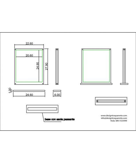 cornici plexiglass cornice da tavolo verticale in plexiglas designtrasparente