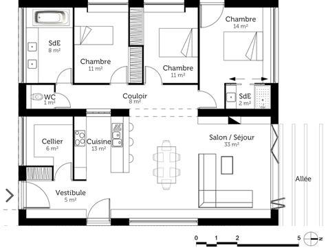 plan maison 224 toit plat 110 m 178 ooreka