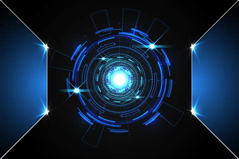 Wallpaper Digital Design by Abstract Technology Background Concept Circle Circuit