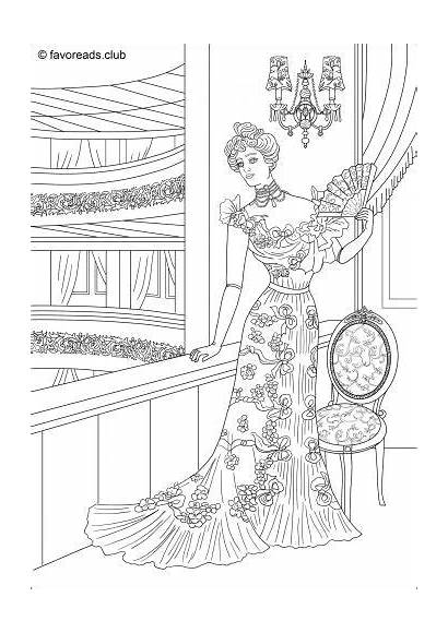 Coloring Pages Adult Adults Printable Victorian Books
