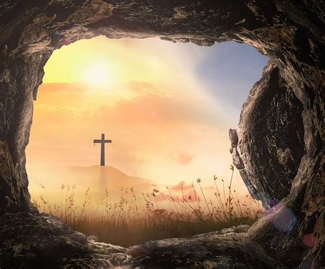 resurrection  jesus christ concept tomb empty