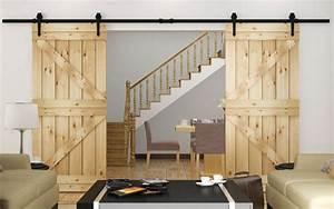 Kit Porte Coulissante Suspendue : porte coulissante suspendue de style grange ou moderne ~ Edinachiropracticcenter.com Idées de Décoration