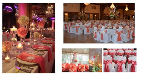 Coral Color Decorations For Wedding unique best services wedding reception ideas for 2016