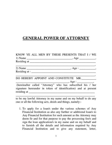 power of attorney form template printable calendar templates