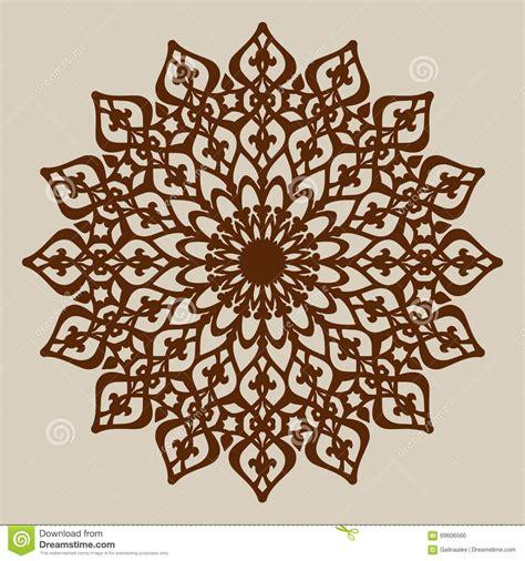 mandala paper cutting template the template mandala pattern for decorative rosette stock