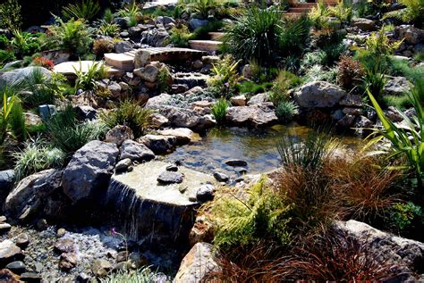 pond with waterfall how to set up a backyard pond outdoor furniture design and ideas