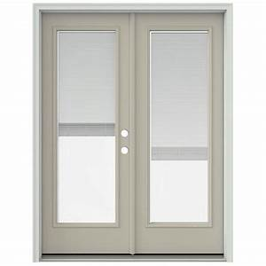 jeld wen 60 in x 80 in desert sand prehung left hand With 60x80 french doors