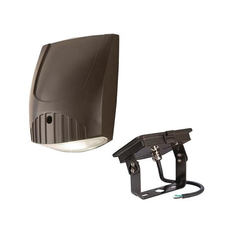 halo bronze outdoor integrated led wall light with trunnion mount kit wp1850lh kit the